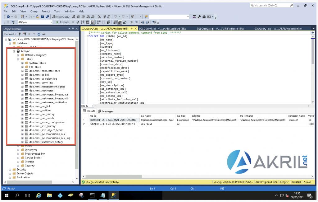 Execution d'une requête SQL via Management Studio